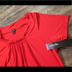 NWT Bright Rafaella RED Career Top